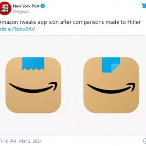 「ヒトラーの口髭みたい」との批判を受けAmazonがショッピングアプリのアイコンを変更