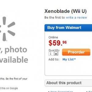 ゼノブレイドの『WiiU』版が発売? 海外通販サイトで予約が開始される