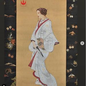 日本画風の『スター・ウォーズ』ファンアート 「Tシャツにプリントしたらバカ売れしそう」「オリジナルの日本画も見てみたい」
