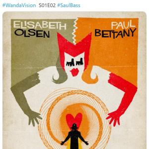 ブラジルのアーティストによる『ワンダヴィジョン』のレトロ風ポスター