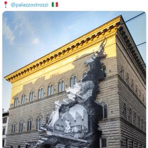 美術館が閉鎖中でも楽しめるアートとして宮殿の外壁に展示された錯視的インスタレーション 「魔法みたい」「コロナ渦の沈んだ気持ちを開放してくれる芸術作品」