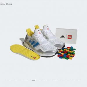 アディダスとレゴのコラボスニーカー発売 レゴブロックで3本線の色をカスタマイズ可能