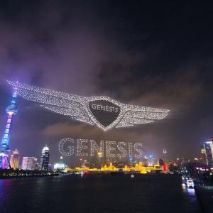上海で3281機のドローンを飛行させた現代自動車がギネス世界記録を更新
