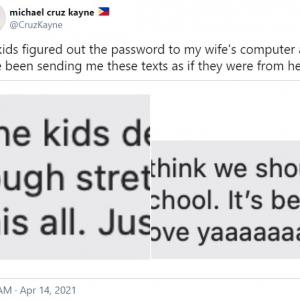 お母さんになりすましてお父さんにメールを送ったハッカーの正体とは? タブレットで遊ぶ時間を要求