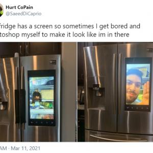 冷蔵庫の液晶パネルを使って遊んでしまう人 「ある意味ホントのスマート冷蔵庫」「ドッキリに使えそう」