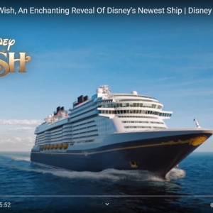 ディズニー・クルーズ・ラインが新船舶「ディズニー・ウィッシュ(Disney Wish)」の予約を2021年5月27日から受付開始 処女航海は2022年6月出航予定