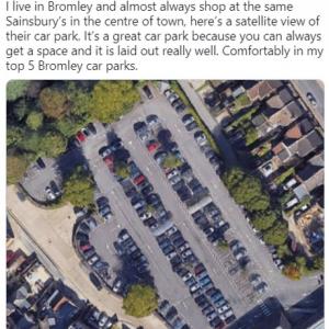 スーパーマーケットの全ての駐車スペースを6年がかりで完全制覇した男性のツイートが注目を集める