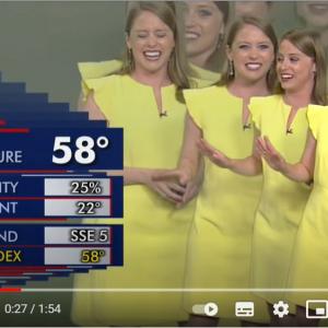 天気予報コーナーのハプニングで笑いが止まらなくなった気象予報士 「1980年代のミュージックビデオみたい」「TikTokのチャレンジで流行りそう」