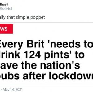 イギリスのパブを救うにはイギリス国民一人当たり約70リットルのお酒を消費する必要があるとの報道 「無理ゲー」「イギリス人じゃないけどイギリス国籍くれるなら手伝うよ」