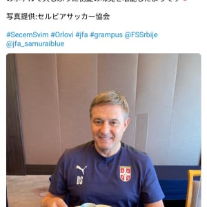「うれしそう」「納豆も食べたのかな?」 来日したセルビアのドラガン・ストイコビッチ監督が鮎の塩焼きを堪能
