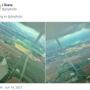 飛行中のグライダーから撮影した陸上竜巻(ランドスパウト)の映像が注目を集める 「パイロットは怖くないのかな」「気象予報士からのコメントが多いね」