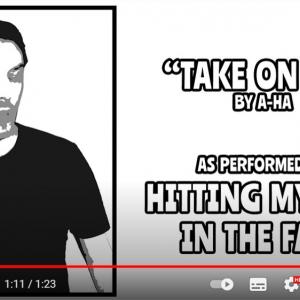 顔を叩きまくってa-haの「テイク・オン・ミー」を演奏する動画 「10回も観てしまった」「馬鹿馬鹿しいけど素晴らしい」