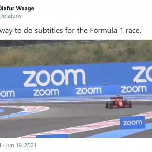 Zoomの広告なのにマツダのCMを連想する人多数 「このままマツダのCMとして使えそう」「マツダってF1に参戦してたっけ?」