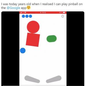 iOS版のGoogleアプリでピンボールが遊べることが発覚