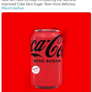 レシピと缶のデザインを一新するCoca-Cola Zero Sugar 「1985年の過ちをまた繰り返すのかよ」「不味かったらペプシ飲めばいいだけ」