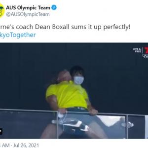 選手の金メダル獲得に感情が爆発してしまったオーストラリア競泳コーチ 「日本人係員にも注目」「これからハルク・ホーガンと戦うのかな」