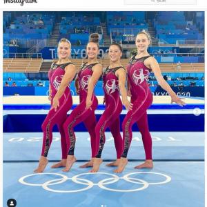 体操女子ドイツ代表のユニタードに注目が集まる 「体操以外の種目でも着れそうな感じ」「生地が増えた分はそのまま広告枠として使えるしね」