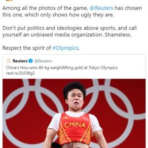 在スリランカ中国大使館、中国選手の「醜い」写真を掲載したとしてロイターに抗議ツイート 「報道の自由って知らないかな」「中国大使館による中国人選手に対する差別的発言」