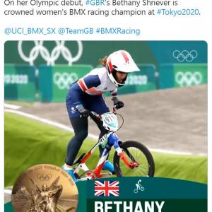 資金面のハンディを乗り越えて金メダルを獲得した自転車女子BMXレーシングイギリス代表選手 「彼女の金メダルはUKスポーツに対する最高のリベンジ」「女性だからという理由で支援を受けられなかった選手が金メダル」