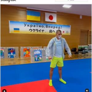 東京オリンピックの空手男子組手75キロ級の予選を前に「NARUTO Main Theme」で気合を入れるウクライナ代表選手