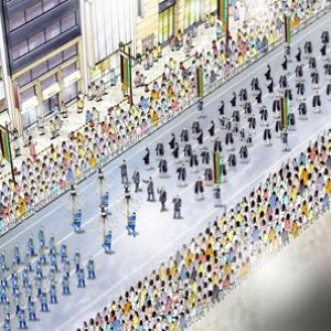 いよいよ歌舞伎座が新装オープン!お祝いで歌舞伎俳優60人が銀座通りを練り歩く