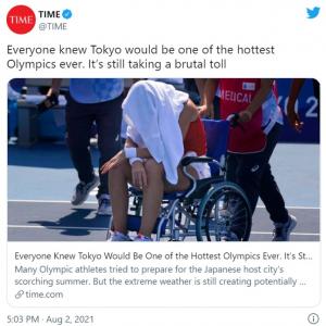 海外メディアが伝える暑すぎる東京オリンピック 「地球が死にかけてるのにスポーツやってる場合かよ」「気候変動は日本だけの問題じゃないわ」