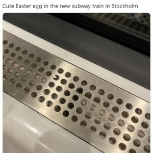 ストックホルム地下鉄の新車両で発見されたイースターエッグが話題 「通勤が楽しくなる」「毎日乗ってるのに全然気付かなかった」