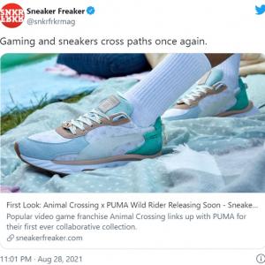 『あつまれ どうぶつの森』とPUMAのコラボスニーカー 「PUMAのスニーカーを初めて買うことになりそう」「私の貯金をそんなに減らしたいのかしら」