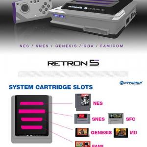 【ソルデジ】レトロゲームが9個も一気に遊べる互換ゲーム機『RetroN 5』発表!