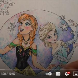 ホラーアーティストによる『アナと雪の女王』のぬりえ動画 「悪い夢見そう」「子どもには絶対見せちゃダメなやつ」