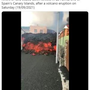 50年ぶりに噴火したカナリア諸島ラパルマ島のクンブレビエハ火山
