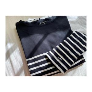 Tシャツにしてはお高めだけど、このかわいさには変えられない。「A.P.C.」のボーダーはもうチェックした?