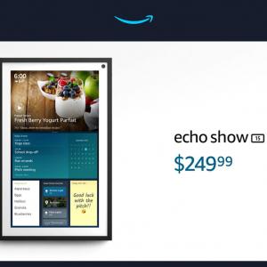 Amazonが壁掛けやスタンドで使える大画面スマートディスプレイ「Echo Show 15」を発表 国内でも2万9980円で販売を予定