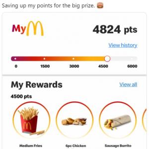 米マクドナルドのポイントプログラム利用者のツイートに注目集まる 「いやらしいこと考えてない?」「その前にビッグマックと交換しちゃうだろうな」