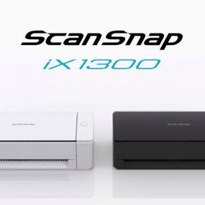 パーソナルドキュメントスキャナ「ScanSnap」に省スペースなスキャン方式を採用したコンパクトモデル「iX1300」を発表