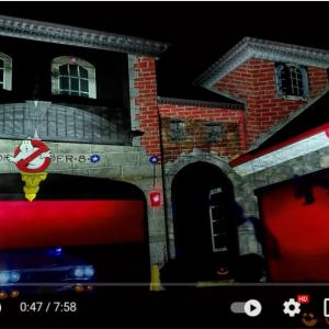 『ゴーストバスターズ』のハロウィン用プロジェクションマッピング 「火事のシーンを目撃した近所の人が消防車呼んじゃうかも」「どこのテーマパークかと思った」