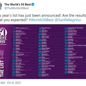 日本の3店舗がランクインした「世界のベストレストラン50 2021年版」が発表