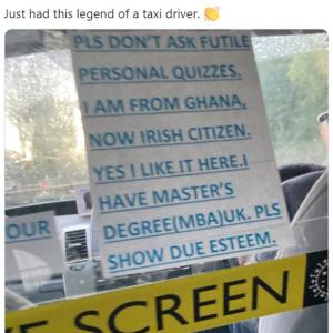タクシー運転手の自己紹介文が注目を集める 「キャリアパスが違う気がするけど」「毎回同じこと聞かれるから疲れちゃったんだよ」