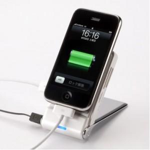 1台3役! USBハブ+カードリーダー機能付き『携帯電話充電ホルダー』