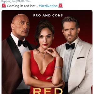 『レッド・ノーティス』の最新予告編が公開 「デッドプール、ブラックアダム、ワンダーウーマンの共演」「Netflixじゃなくて映画館で上映すべき」