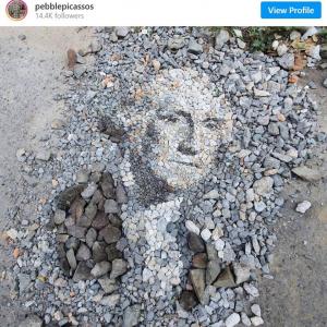 小石で描いたランド・アートの数々 「適当な小石を探すのにどれだけ時間かかるのかな」「異次元のアートだ」