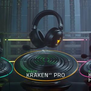 Razerがゲーミングヘッドセット「Kraken V3」シリーズを発表!新モデルが3つも登場!
