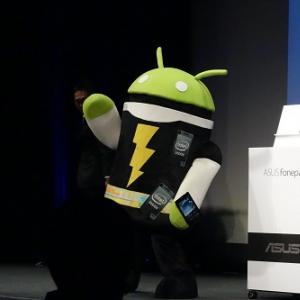 インテルドロイド君も登場! ASUSがAtomプロセッサ搭載の通話可能な7インチタブレット『Fonepad』を発表