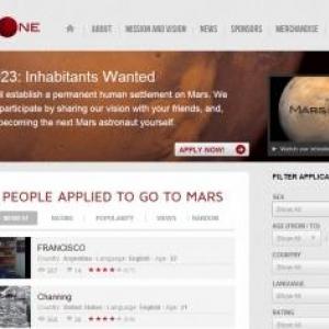 オランダのNPOが火星永住希望者のエントリーを開始