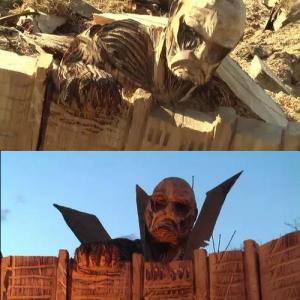 あの木彫り名人のジェイソンさんが『進撃の巨人』を彫った! 人類終わりの予感な完成度に圧巻