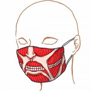 『進撃の巨人』風タイツの次は巨人になりきれるマスクだ! 同じくキモかわキモ過ぎ