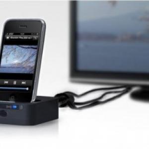 日本初!『iPod/iPhone』を充電しながら動画や音楽をテレビやコンポで楽しめる『Visual Dock』
