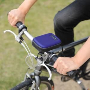 衝撃や水にも強い! 音楽を聴きながら走ろう『自転車対応スピーカーバッグ 200-PDA019』