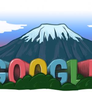 【速報】世界文化遺産登録を記念して「Doodle」が富士山に!
