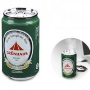 仕事中にビールでもいかがですか? オフィスの渇きを潤す缶ビール型USB加湿器
